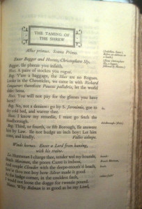 The Taming of the Shrew, Nonesuch