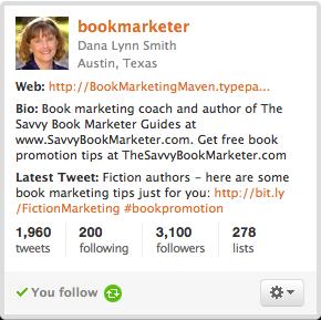 thebookdesigner.com self-publishing twitter follows