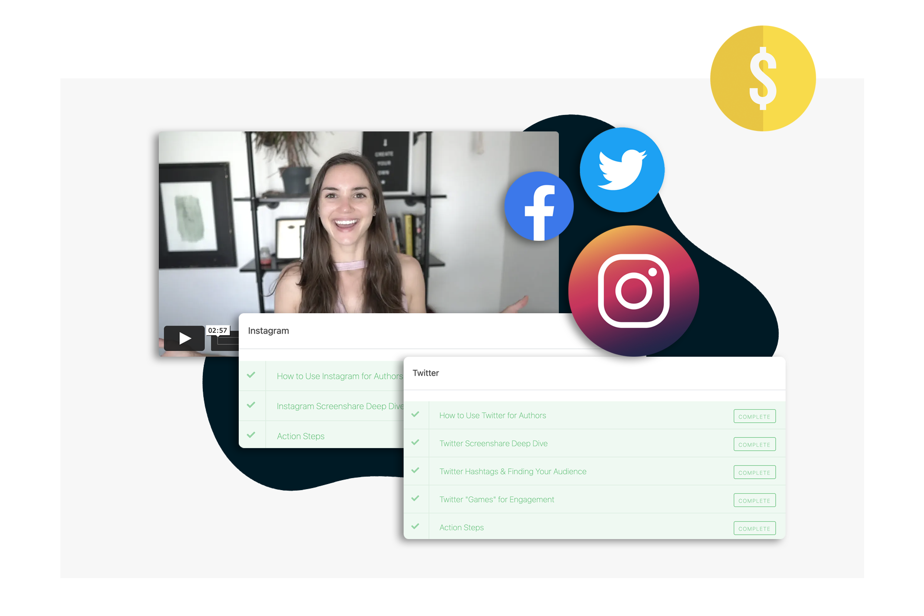 social media for authors course